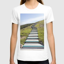 stairs up the hillside T-shirt