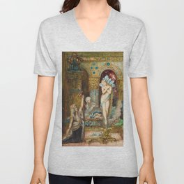 The Fable by Gustave Moreau Unisex V-Neck