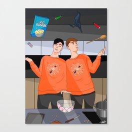 Dan & Phil Halloween Baking 2017 - Digital Canvas Print