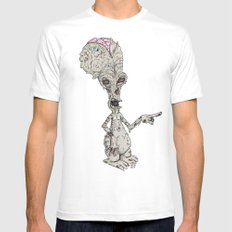 Zombie Roger White Mens Fitted Tee MEDIUM