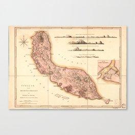 Map of Curaçao (1810) Canvas Print