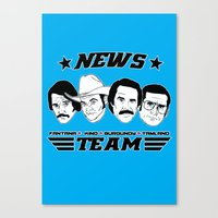 anchorman Canvas Prints featuring news team - the anchorman by Buby87