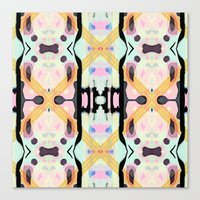 lucy Canvas Prints featuring Lucy by Haute Graffiti