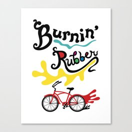 Burning Rubber bike Canvas Print