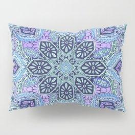 Navy Blue, Mint and Purple Boho Pattern  Pillow Sham