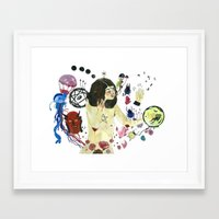 biology Framed Art Prints featuring Biology Homework / Teen Witch by Eleanor Barker Illustration