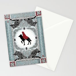 Red and Wolf Stationery Cards
