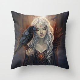 Ravenkin Throw Pillow