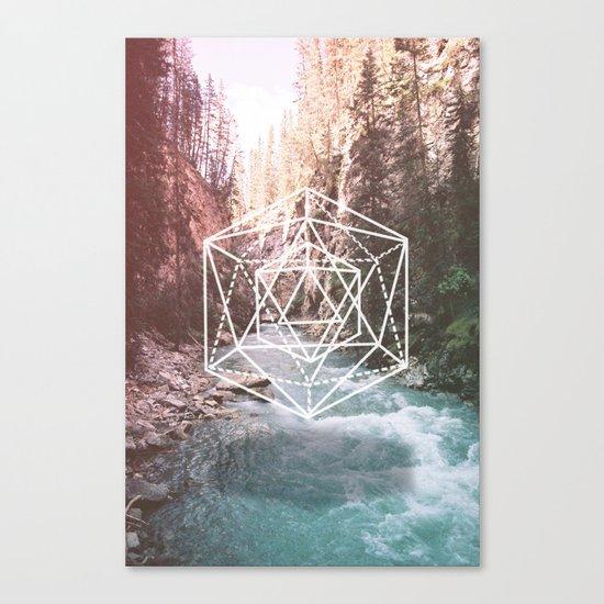 River Triangulation Canvas Print