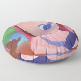 Mona Lisa Gets a Makeover Floor Pillow