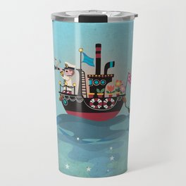 Sea Lover Retro Japanese illustration Travel Mug