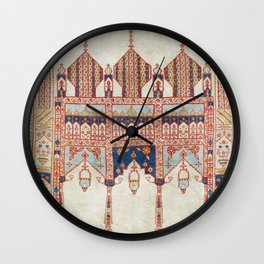 North Indian Pictorial Rug Print Wall Clock