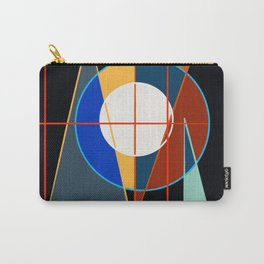 Black Geometric Abstract Composition Suprematist Carry-All Pouch