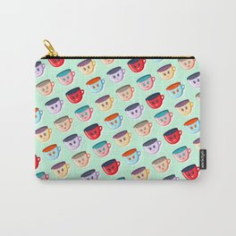 Cute smiling mugs pattern Carry-All Pouch