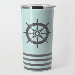 AFE Pale Turquoise and Brown Helm Wheel Travel Mug