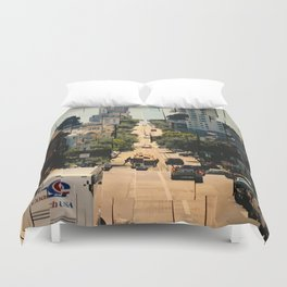 It's a Cubist's World Duvet Cover