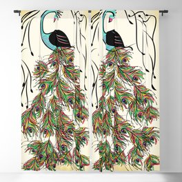 Vibrant Jungle Peacock Blackout Curtain