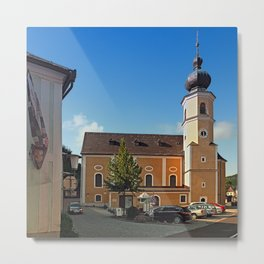 The village church of Helfenberg I | architectural photography Metal Print