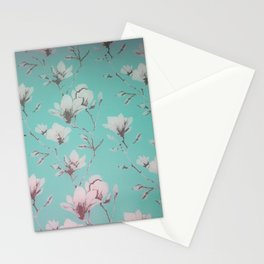 Floral Wallpaper Mint Stationery Cards