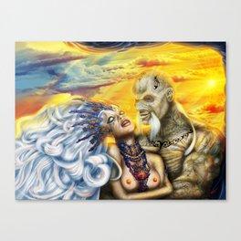 Wraith Queen Gwen and commander Boris Canvas Print