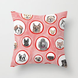 The Dog Show Throw Pillow