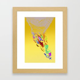 Save the seas Framed Art Print