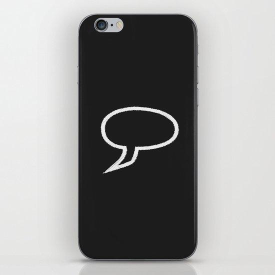 Speech Bubble iPhone & iPod Skin