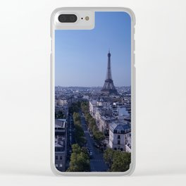 Paris Morning Clear iPhone Case