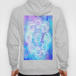 Mandala Pink Lavender Aqua Galaxy Space Hoody