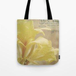 Yellow Canna Tote Bag