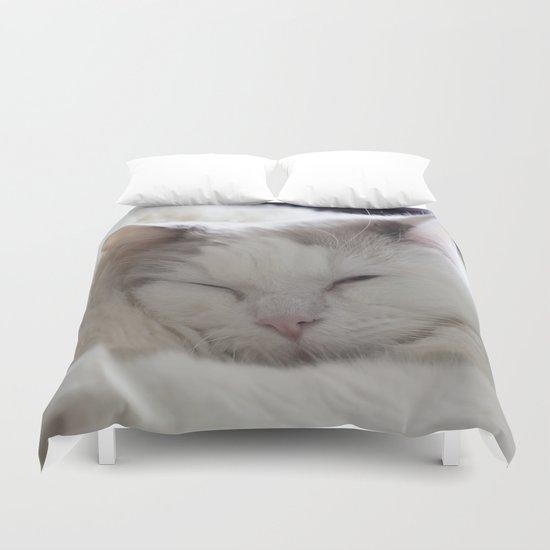 Ragdoll Cat Cuddles Duvet Cover