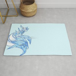 Ice Kitsune Rug
