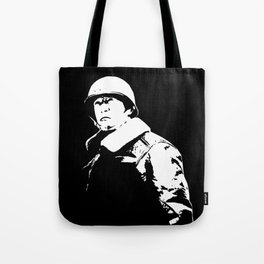 General George Patton - Black and White Tote Bag