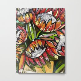Potted Proteas Metal Print