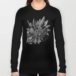 Aztec Great Lizard Warrior 1 (Triceratops) Long Sleeve T-shirt