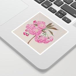 Barrier Mountain Cherry Blossoms Watercolor Sticker