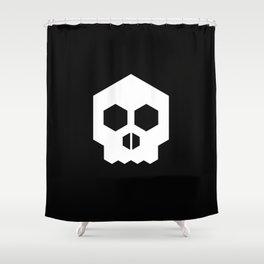 hex geometric halloween skull Shower Curtain