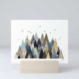 Mountain Collage Mini Art Print