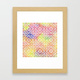 DP050-10 Colorful Moroccan pattern Framed Art Print
