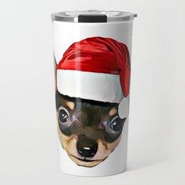 Christmas Chihuahua dog Travel Mug