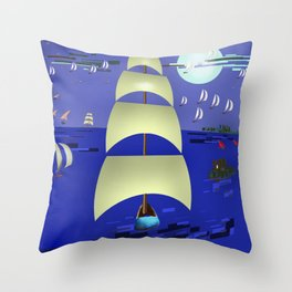 May against the Tide - shoes stories Throw Pillow
