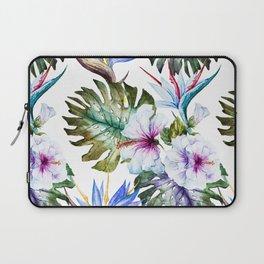 Watercolor Tropical Hibiscus Laptop Sleeve