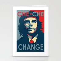 che Stationery Cards featuring CHE CHE CHANGE by MDRMDRMDR