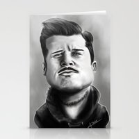 brad pitt Stationery Cards featuring Bred Pitt Caricature by ikaccass