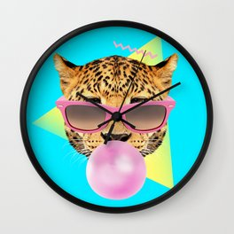 Bubble Gum Leo Wall Clock