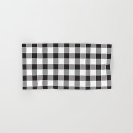 Buffalo Check - black / white Hand & Bath Towel