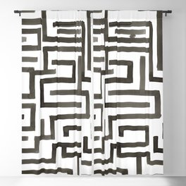 Ariadne in Black and White Blackout Curtain
