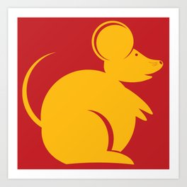 Year of the Rat. Chinese New Year 2020 Art Print
