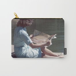 Woman Reading By The Lake (Vintage) Carry-All Pouch