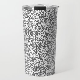 Tiny Spots - White and Dark Gray Travel Mug